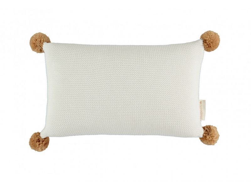 So Natural Knitted Cushion / Milk