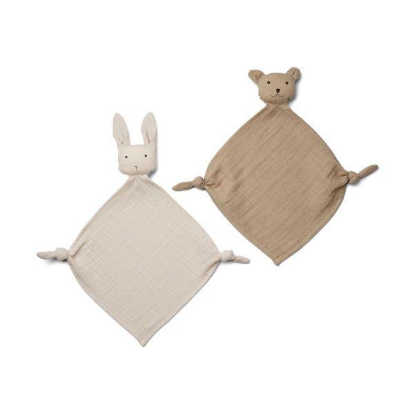 Yoko Mini Cuddle Cloth 2-pack / Sandy - Stone Beige