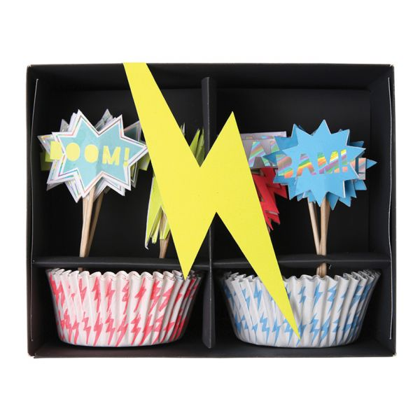 Super Hero Cupcake Kit
