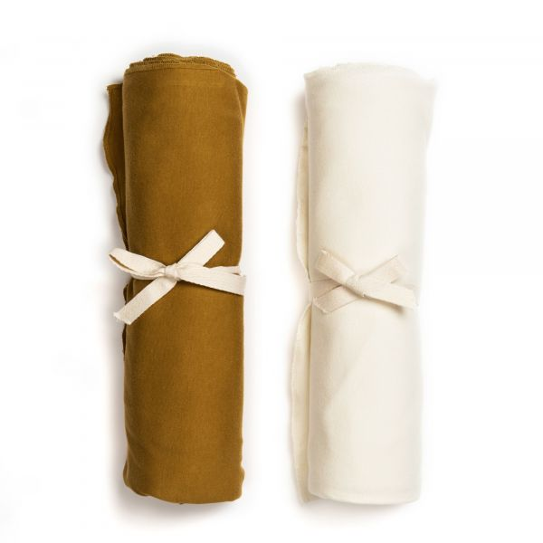 Swaddle Blanket Set / Curry - Vanilla