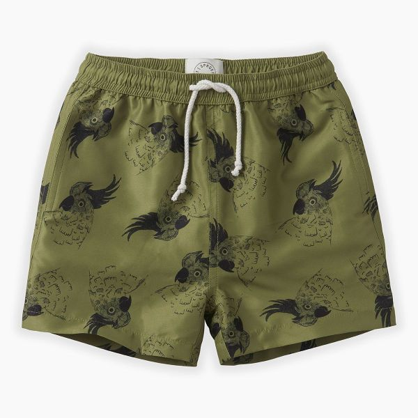 Swim Shorts Print Cockatoo / Tropical Green