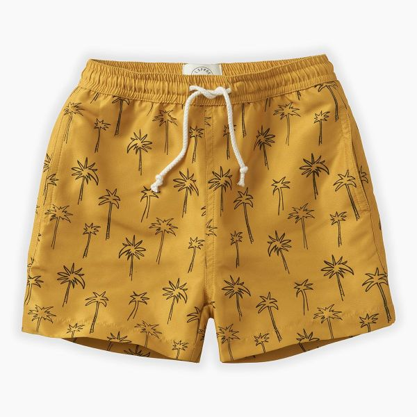Swim Shorts Print Palm Tree / Curcuma