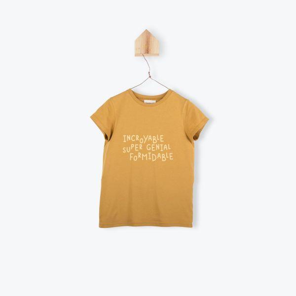 T-shirt Incroyable / Caramel