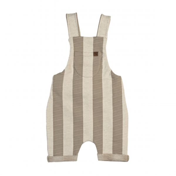 Summer Overalls / Beige Stripe