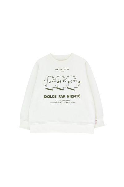 DFN Dogs Sweatshirt / Off-white - Olive Dark Green