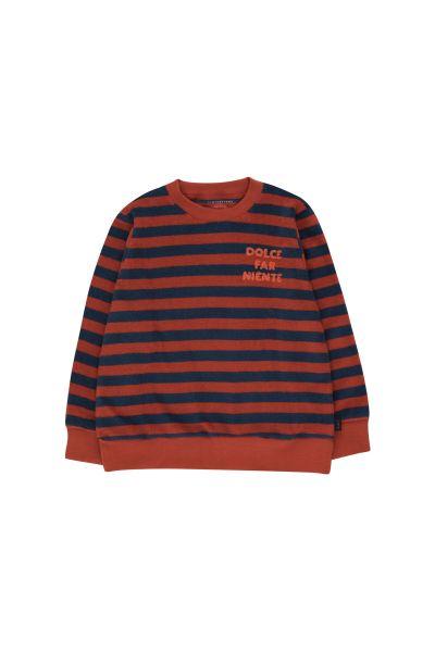 Dolce Far Niente Sweatshirt / Dark Brown - Light Navy