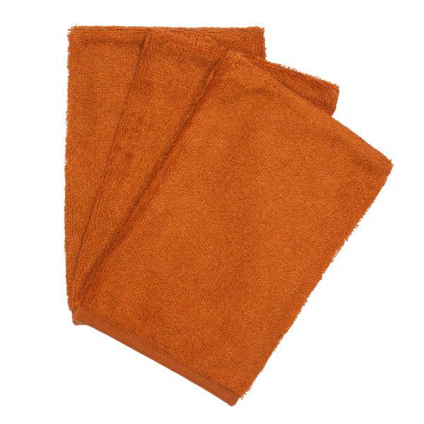Set van 3 washandjes / Inca Rust