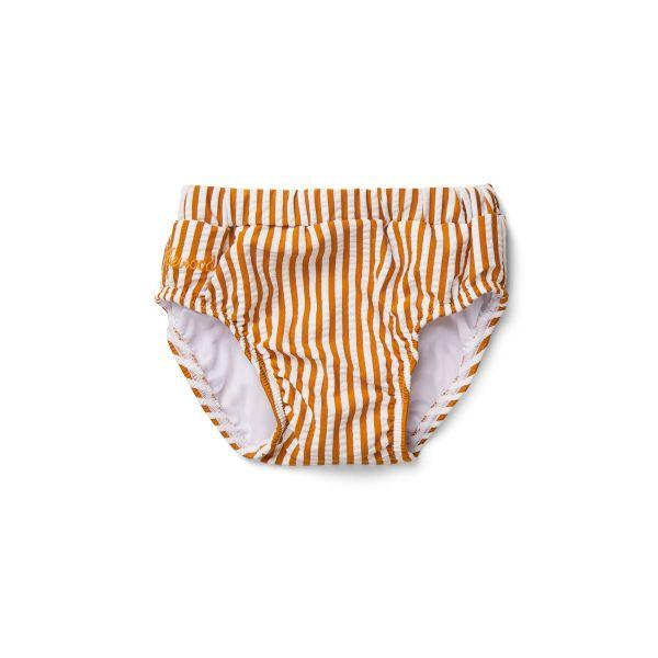 Frej Baby Boy Swim Pants / Stripe Mustard White