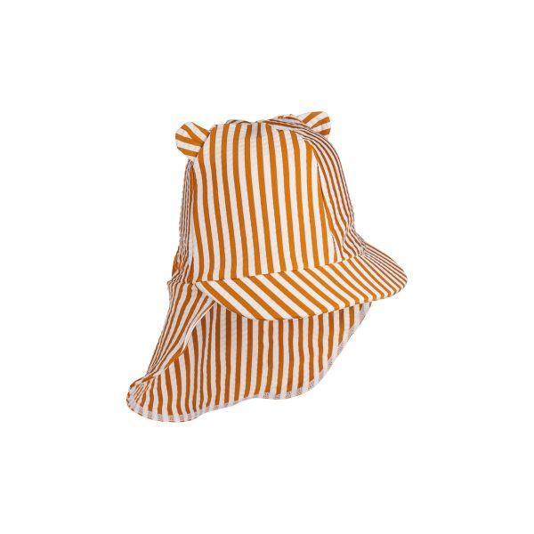 Senia Sun Hat / Stripe Mustard White