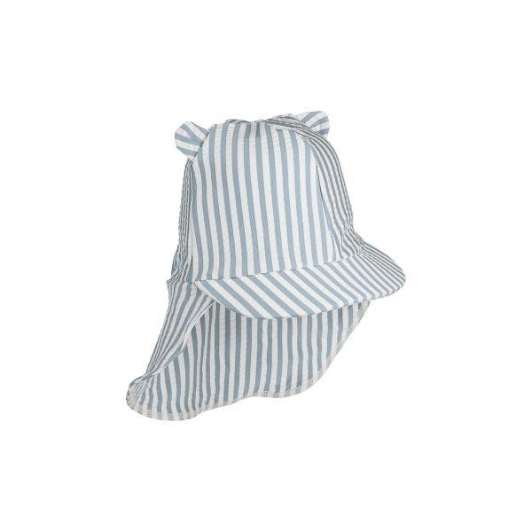 Senia Sun Hat / Stripe Sea Blue White