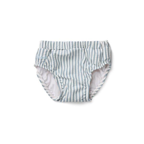 Frej Baby Boy Swim Pants / Stripe Sea Blue White
