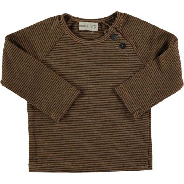 Woodpecker Striped T-shirt / 22 Caramel