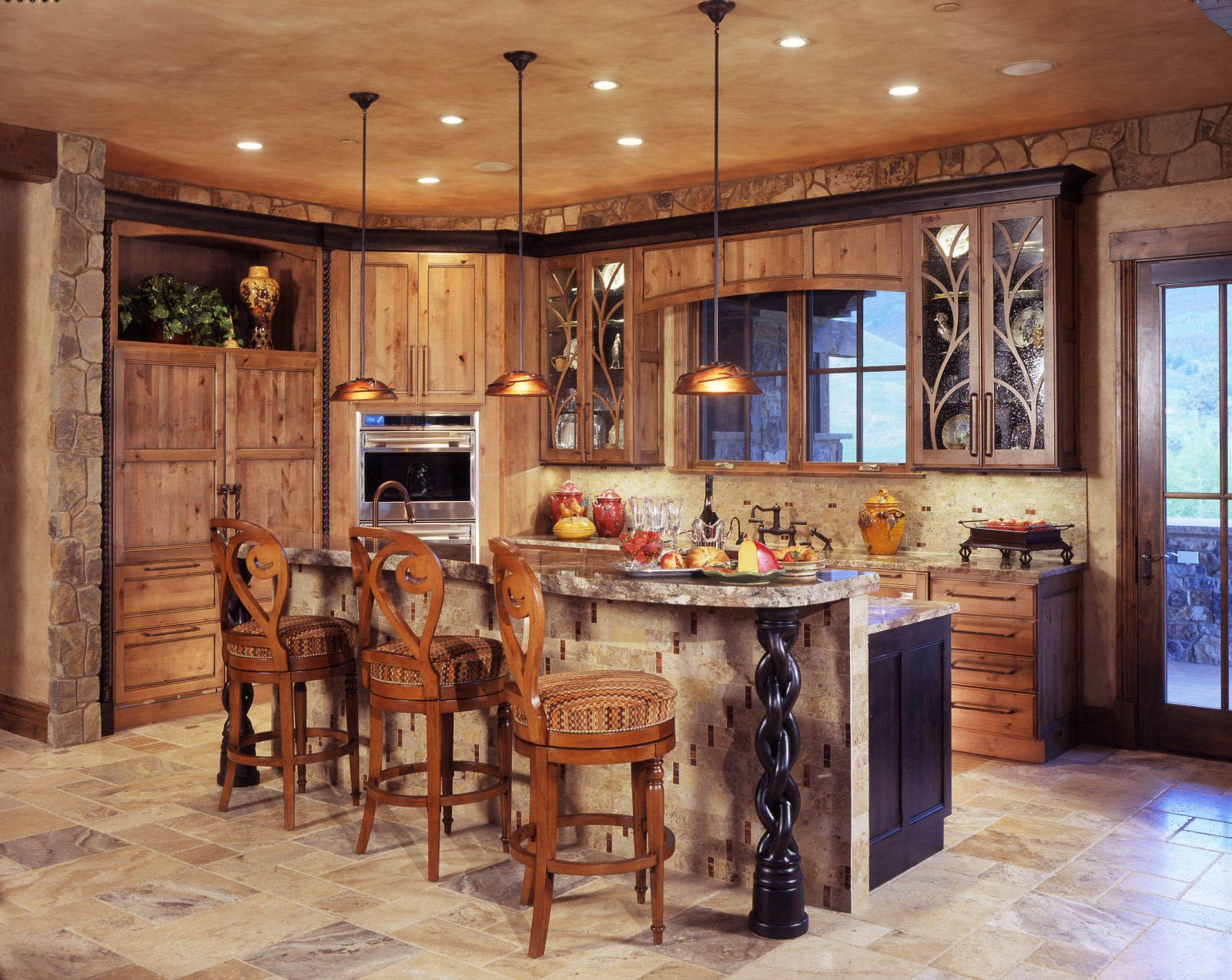 Rustic Kitchens With Islands. Great Rustic Kitchen Lighting Ideas 1600 X  1273 · 529 KB