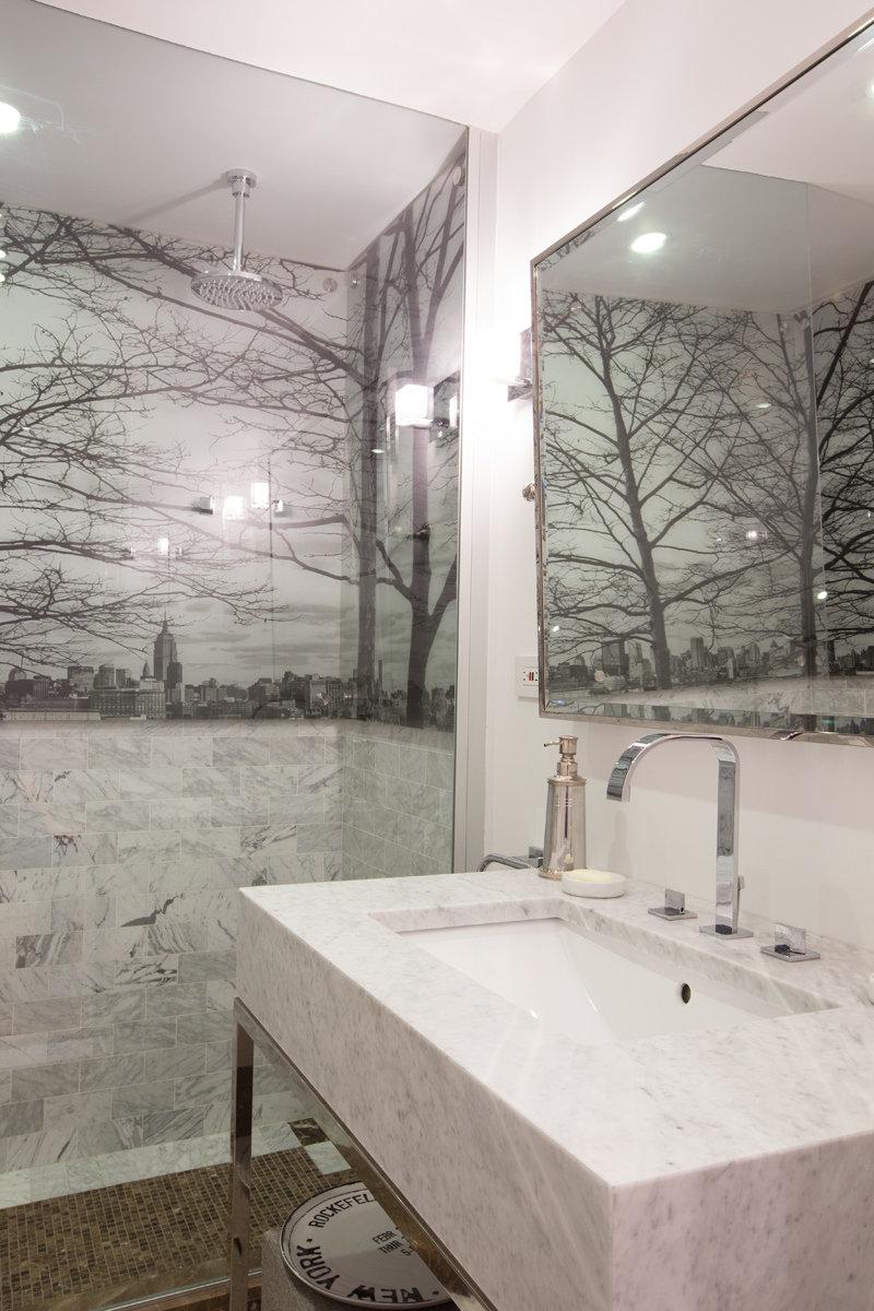 Bathroom designed by Studio Bichara Srl Newform fixtures