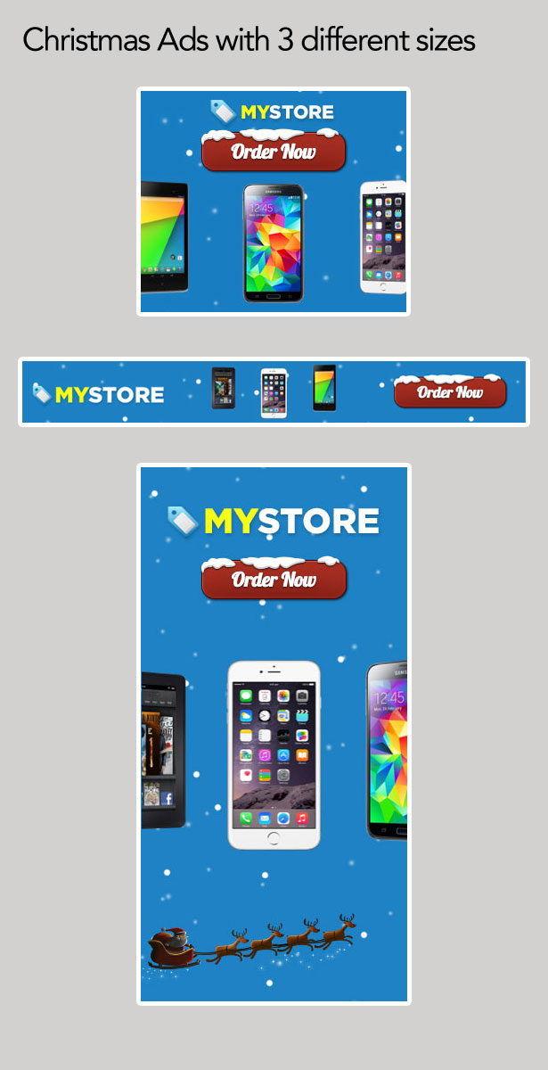 Christmas Store Ad with Dynamic Snow Background