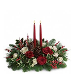 6026 - Christmas Wishes Centerpiece Santa Maria CA delivery.