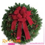6040 - Classic Holiday Wreath Santa Maria CA delivery.