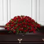 3891 - Dearly Departed Casket Spray Santa Maria CA delivery.