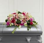 3894 - Splendid Grace Casket Spray Santa Maria CA delivery.