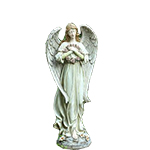 996822 - Angel with Wreath Santa Maria CA delivery.