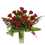 1067 - Scarlett Rose Bouquet Santa Maria CA delivery.