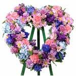 2120 - Feminine Reflections Heart Wreath Santa Maria CA delivery.