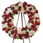 2146 - Carmine Wreath Santa Maria CA delivery.