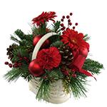 2149 - Basket for Christmas Santa Maria CA delivery.