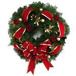 2158 - Evergreen Wreath Santa Maria CA delivery.