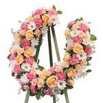 2198 - Custom Horseshoe Floral Santa Maria CA delivery.