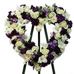 2200 - Clara Heart Wreath Santa Maria CA delivery.