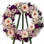 2202 - Purple Wreath Tribute Santa Maria CA delivery.