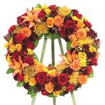 2331 - Autumn Sunset Wreath Santa Maria CA delivery.