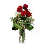 2487 - Six Clutched Roses Santa Maria CA delivery.