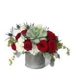2519 - Miki Succulent & Rose Bouquet Santa Maria CA delivery.
