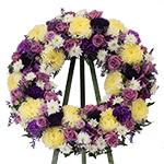2628 - Lavender Comfort Wreath Santa Maria CA delivery.