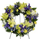 2643 - Alegria Wreath Santa Maria CA delivery.