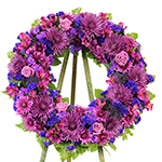 2678 - Purple Passion Wreath Tribute Santa Maria CA delivery.