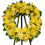 2681 - Golden Hope Wreath Tribute Santa Maria CA delivery.