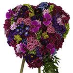 2761 - Amethyst Heart Premium Tribute Santa Maria CA delivery.