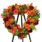 2823 - Gabriel Heart Wreath Santa Maria CA delivery.