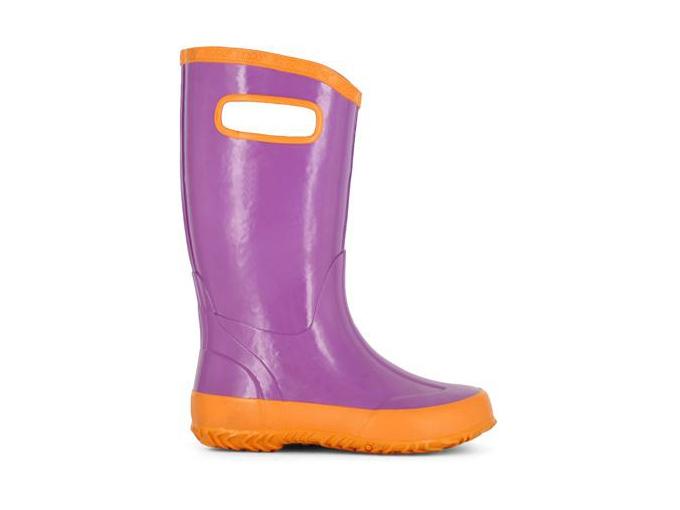 Bottes de pluie BOGS mauve et orange pour fille