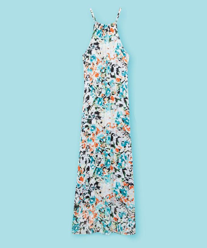 Robe d'été longue en polyester