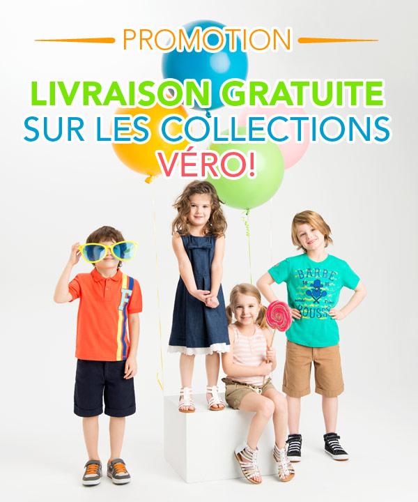 Livraison gratuite sur les collections Véro!