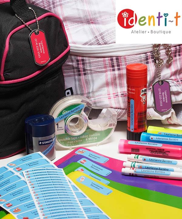 Ensemble d'étiquettes Identi-T