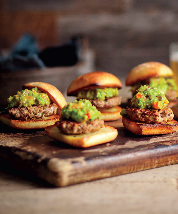 Miniburgers de veau et guacamole au cari de Marilou