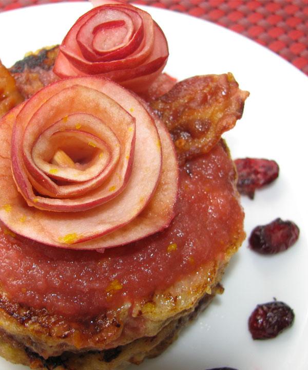 Pommes Fleuries et son Pain Doré