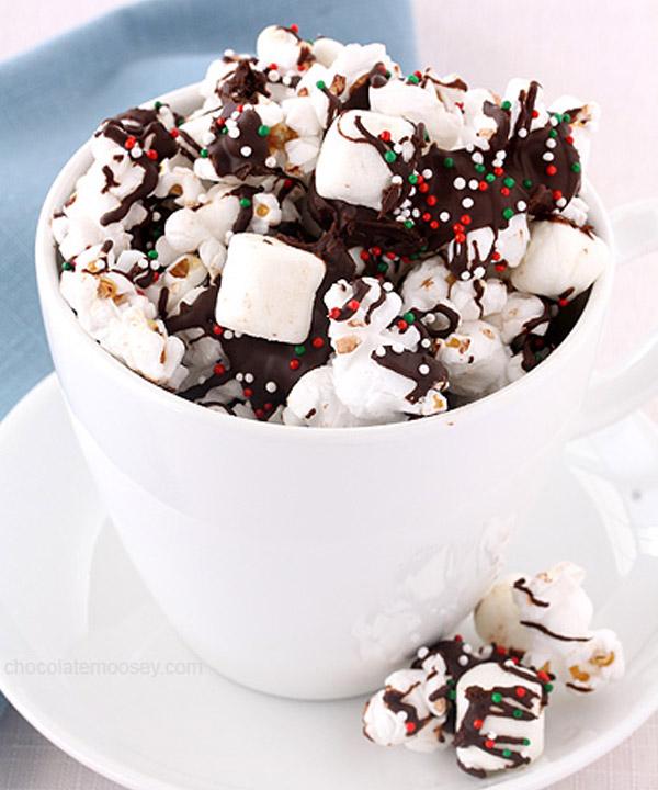 Table sucrée de Noël : Popcorn de Noël de Véro