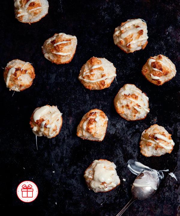 Macarons à l'ancienne à la noix de coco et à la lime de Marilou
