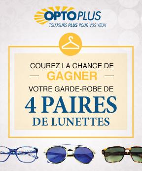 Gagnez votre garde-robe de lunettes grâce à Opto Plus!